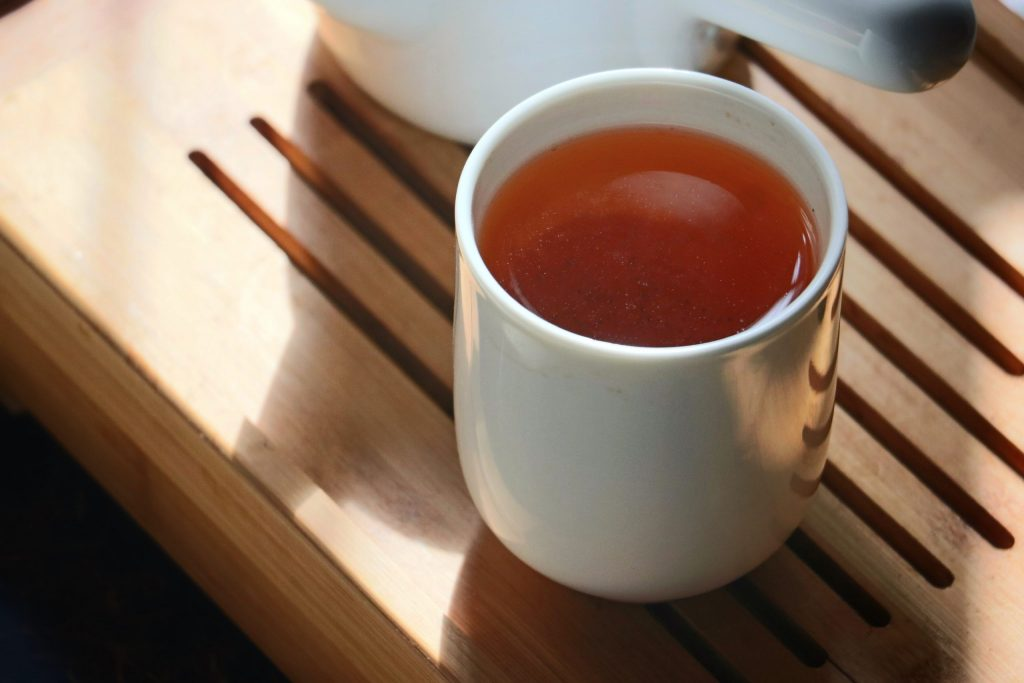 chá vermelho - Pu-erh